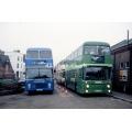 Hastings & District 650 & Kentish Bus 629 at Tonbridge