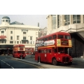London Buses RM946 & RML2343 at St Giles Circus