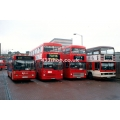T135 (London Buslines 521 ), M18 (MTL London), M133 (MTL London) & R&I 233 at Archway