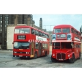 London Buses T557 & RM677 at Waterloo