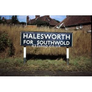 Halesworth station sign