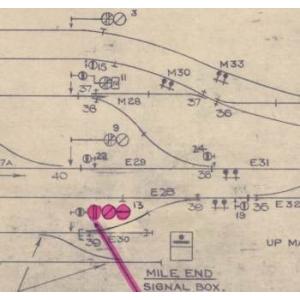 Signalling Plan: Mile End 1967