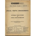 Special Traffic Arrangements - BR(S) SWD 24/10/81