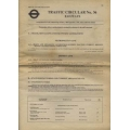 Traffic Circular No36 (LT Railways) 28/9/81