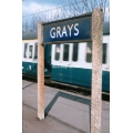 Grays station sign