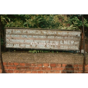 Beccles station sign