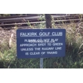 Carmuirs golf club sign