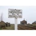 Trespass sign at Cowbit