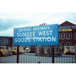 Dundee West Goods Station sign