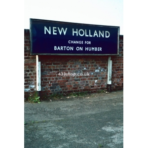 New Holland station sign