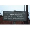 Spalding footbridge sign