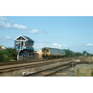 Hickleton Colliery Sidings SB (156491 passing)
