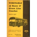 LCBS (South East District) 1972 bus timetable