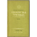 LT (Country Bus, South District) 1968 bus timetable