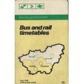 Barnsley and Doncaster 1979 bus and rail timetable