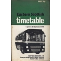 Eastern Scottish 1976 bus timetable