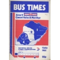 National Welsh (Gwent & Merthyr) 1981 bus timetable