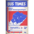 National Welsh (South Glamorgan & Ogwr) 1981 bus timetable