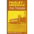 Western Scottish (Paisley & Greenock) 1977 bus timetable